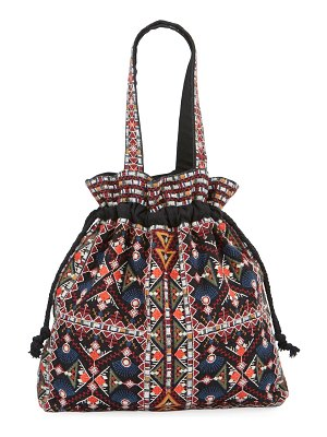 Johnny Was Beatriz Embroidered Drawstring Tote Bag