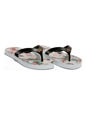 Johnny Was Holly Butterfly Flip Flop Thong Sandals