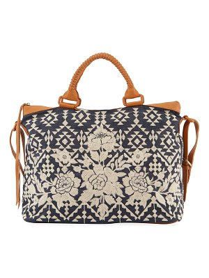 Johnny Was Mela Embroidered Overnight Tote Bag
