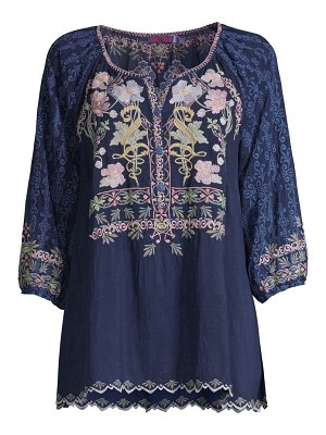 Johnny Was vista embroidered blouse