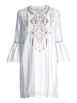 Johnny Was workshop chiara embroidered tunic dress