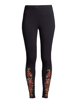 Johnny Was zaret floral embroidered leggings