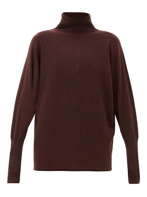 Johnston's Of Elgin batwing-sleeve cashmere roll-neck sweater