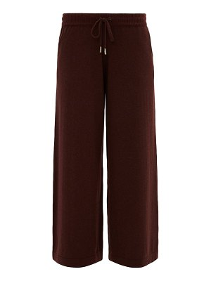 Johnston's Of Elgin collette wide-leg cashmere trousers