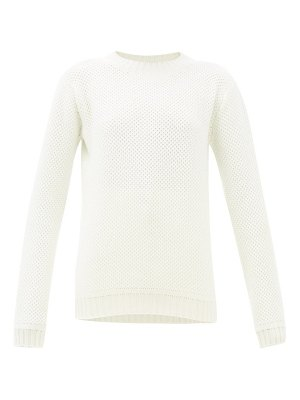 Johnston's Of Elgin honeycomb brioche-knit cashmere sweater