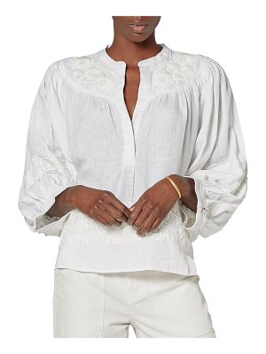 Joie Ailani Embroidered Linen Blouse