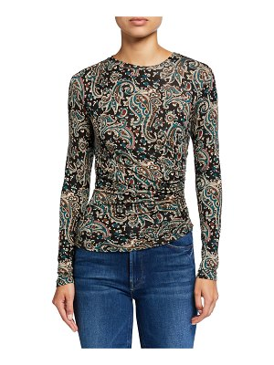 Joie Alaxandra Paisley-Print Ruched Top