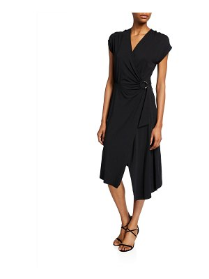 Joie Anjula Draped Short-Sleeve Wrap Dress