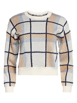 Joie austine plaid crewneck sweater