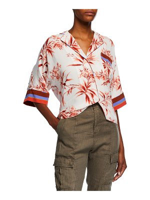 Joie Bayley Floral-Print Button-Down Top