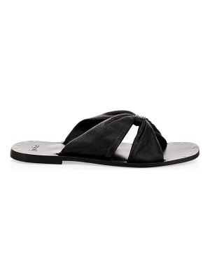 Joie bentia knotted leather slide sandals