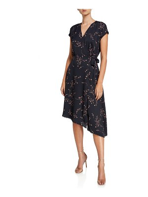 Joie Bethwyn E Floral Asymmetrical Wrap Dress