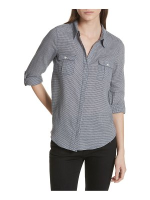 Joie booker houndstooth button down top