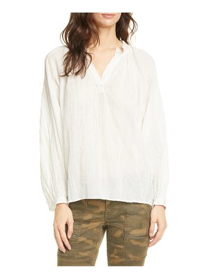 Joie elza metallic stripe peasant top