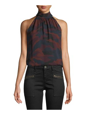Joie Erola B Sleeveless Camo-Print Silk Top