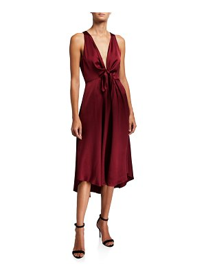 Joie Kataniya Plunging Tie-Front Cocktail Dress