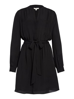 Joie lenore long sleeve silk shirtdress