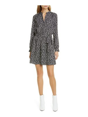 Joie leonore belted long sleeve dress