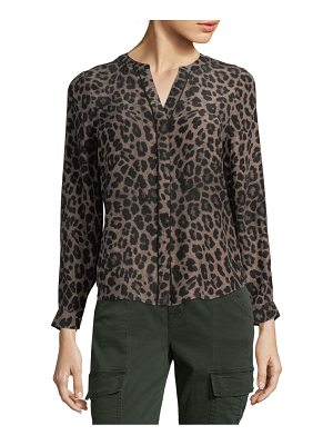 Joie Leopard-Print Silk Button-Down Shirt