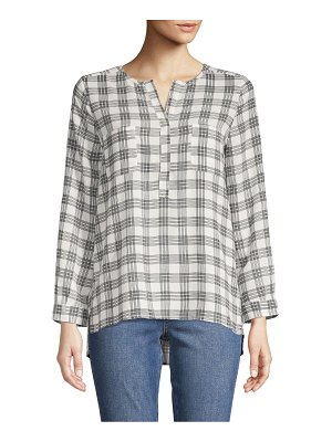 Joie Plaid High-Low Top