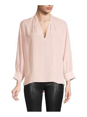 Joie Pleated V-Neck Top
