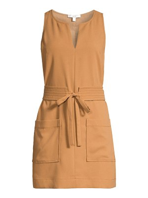 Joie puck belted mini dress