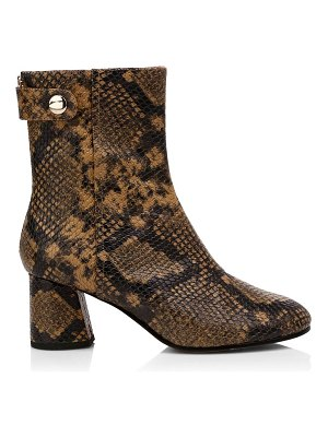 Joie ramet snakeskin-embossed leather ankle boots