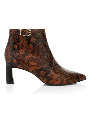 Joie rawly snakeskin-embossed ankle boots