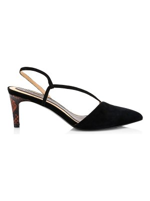 Joie reno suede point-toe slingback pumps