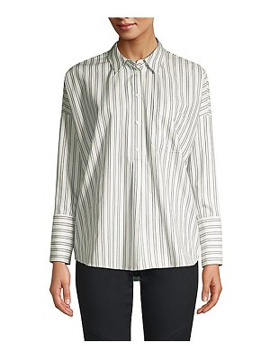 Joie selinde striped cotton blouse