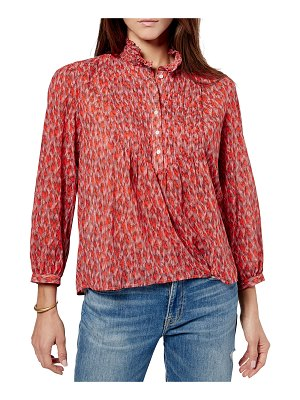 Joie Stinson Puff-Sleeve Printed Top