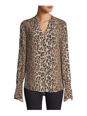 Joie tariana leopard print blouse