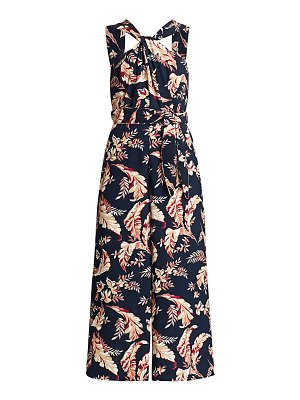 Joie trenity floral halter cropped jumpsuit