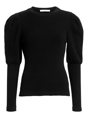 JONATHAN SIMKHAI directional rib bishop sleeve top