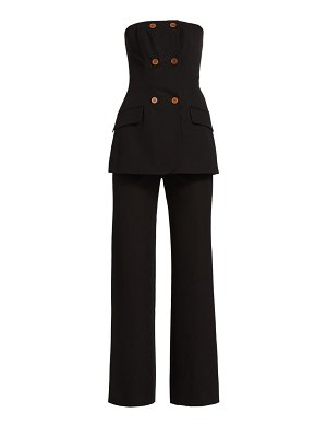 JONATHAN SIMKHAI essie strapless double breasted jumpsuit