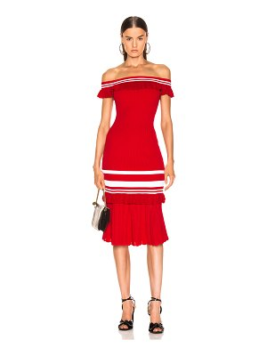 JONATHAN SIMKHAI for FWRD Off the Shoulder Knit Dress
