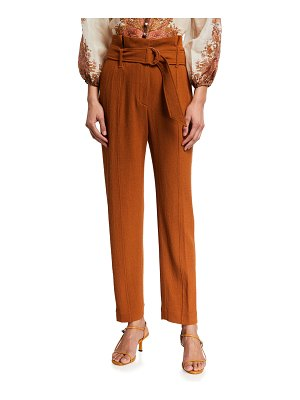 JONATHAN SIMKHAI Henny Textured Cropped Paperbag Pants
