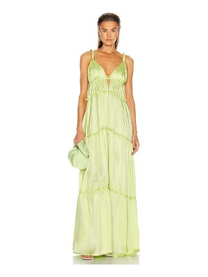 JONATHAN SIMKHAI jade charmeuse dress