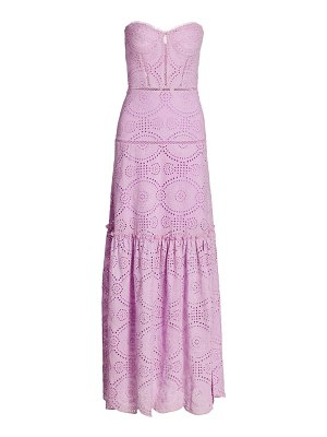 JONATHAN SIMKHAI juliette strapless lace maxi dress