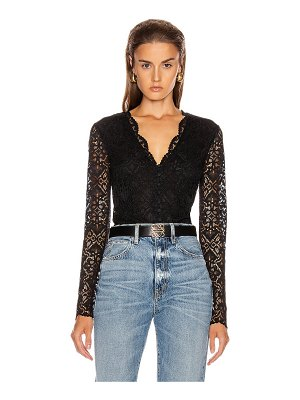 JONATHAN SIMKHAI lace long sleeve bodysuit