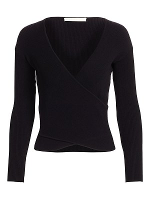 JONATHAN SIMKHAI ribbed wrap top