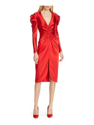 JONATHAN SIMKHAI ruched satin midi dress
