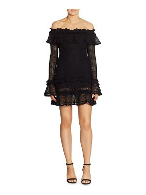 JONATHAN SIMKHAI Ruffled Off-The-Shoulder Crochet Dress