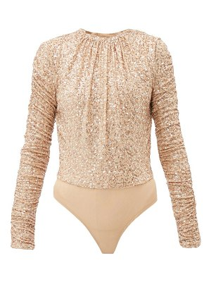 JONATHAN SIMKHAI sequinned open back mesh bodysuit
