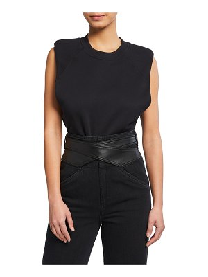 JONATHAN SIMKHAI STANDARD Bower Organic Cotton Sleeveless Bodysuit