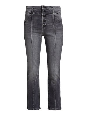 JONATHAN SIMKHAI STANDARD marley darted button-fly ankle jeans