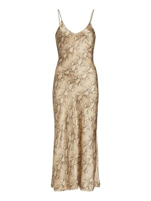 JONATHAN SIMKHAI STANDARD rhiannon essentials bias midi slip dress