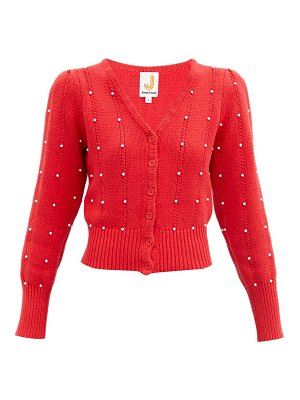 JoosTricot bead-embellished cotton-blend cardigan