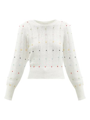 JoosTricot beaded cable-knit cotton-blend sweater