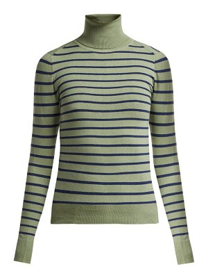 JoosTricot striped cotton-blend roll-neck sweater